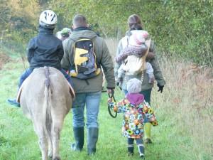 Randonnée pédestre avec les ânes de Min Guen